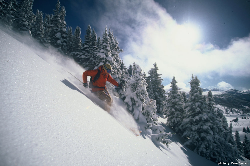 Powder skiing at Sunshine Village