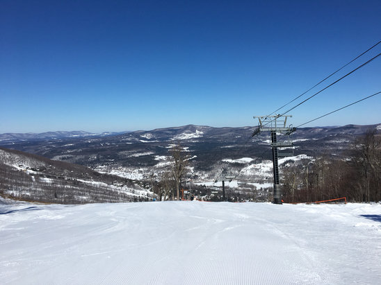 Windham Mountain - Great conditions! Blue Bird Day It's not going to get any better then today!!! - ©I phone