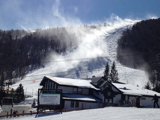 Killington Resort - Superstar snowmaking, March 23, 2017 - ©owner's iPhone