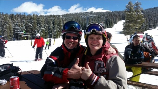 Copper Mountain Resort - Told ya tomorrow would be better! Killer end of March snow.  Good for the next week now. Come ski Copper!!  Powder and Sun. Nice chill up top. - ©mrleehill600