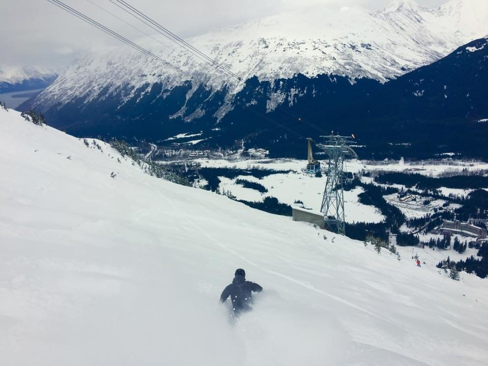 Surfing the goods in Alyeska. - ©Alyeska
