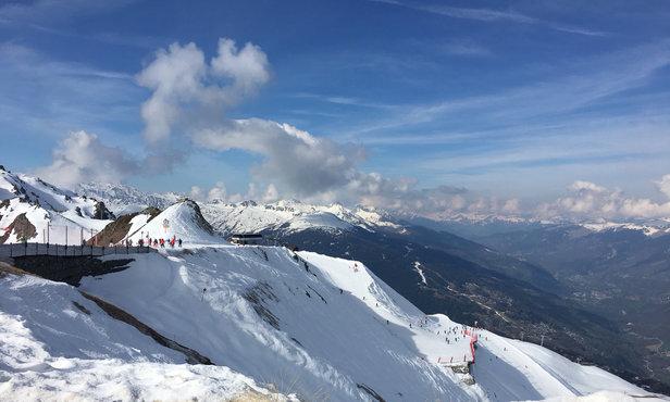 Les Arcs - Belle journée et la neige est en train de partir  - ©Cynthita