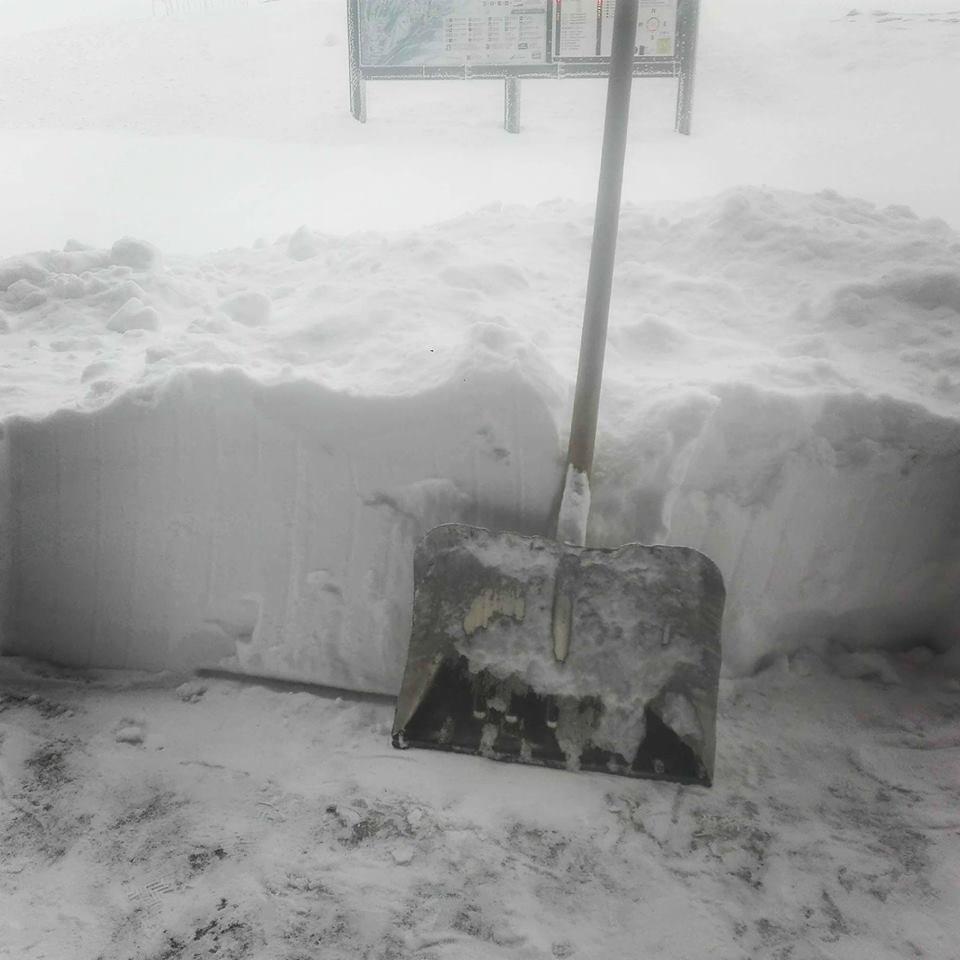 40cm świeżego śniegu na Chopoku, 18.04.2017 - ©Facebook Jasna Nizke Tatra