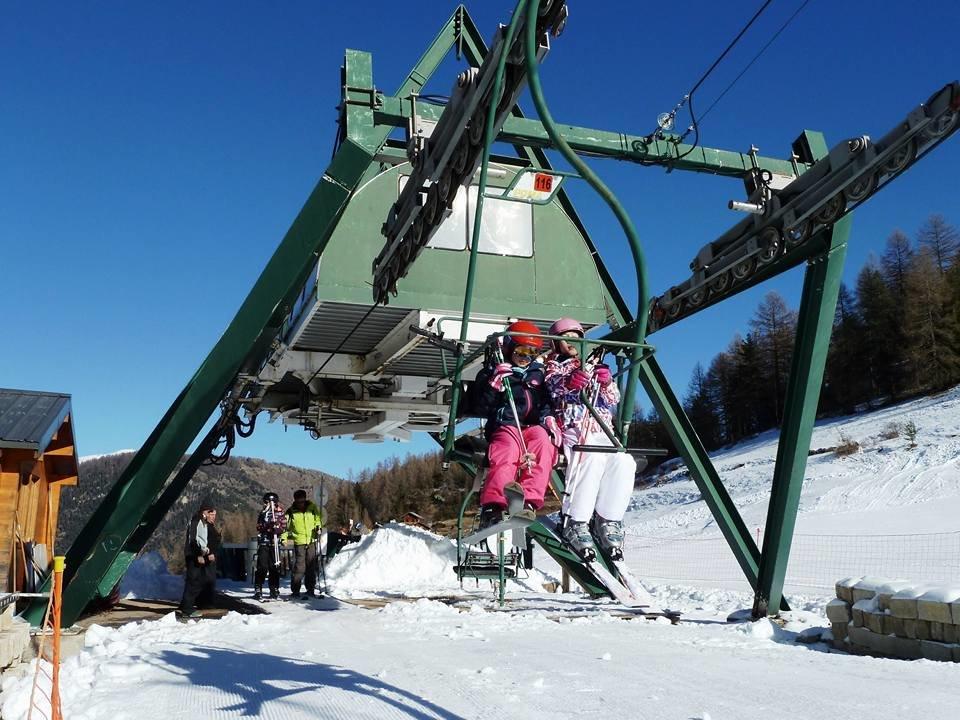 En piste ! Direction les pistes de ski de Roubion les Buisses.