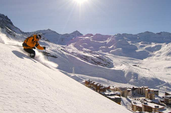 On the slopes of Val Thorens, France