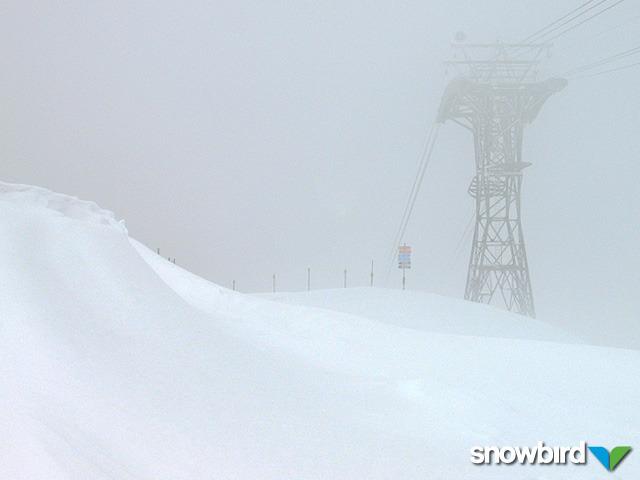 A snowstorm hits Snowbird, Utah