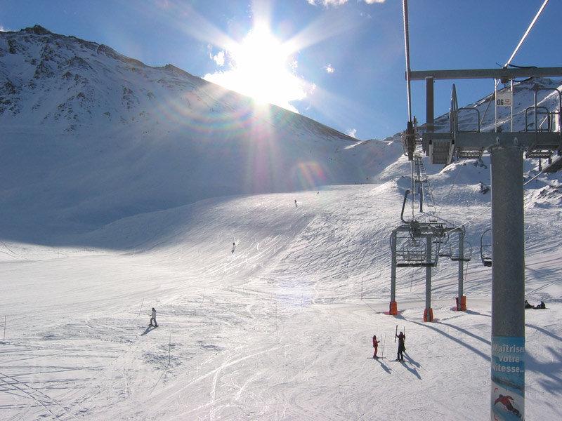 Ski lift at Valfréjus, France.