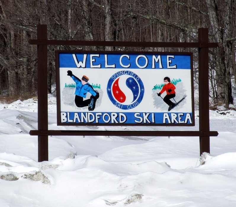 Sign at Blandford, Massachusetts.