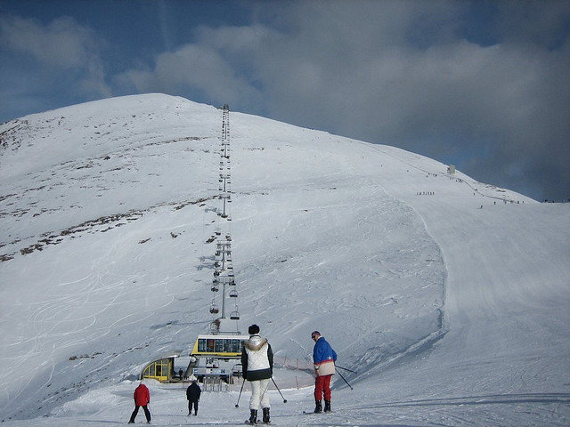 Lift station to the peak at Meransen, Italy