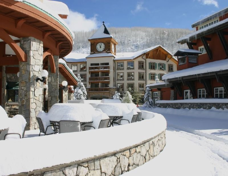 A view of the village at Solitude Mountain Resort, Utah