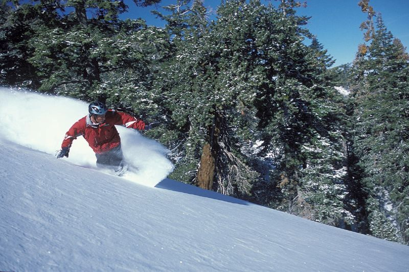 Snowboarding at Snow Summit, California