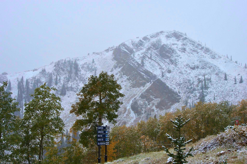 September 25th Snowfall, Park City, Utah