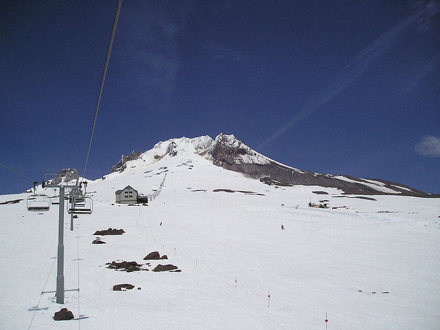 Magic Mile and Palmer Chairlift yield summer skiing on Mt. Hood.  - ©Michelle/Flickr
