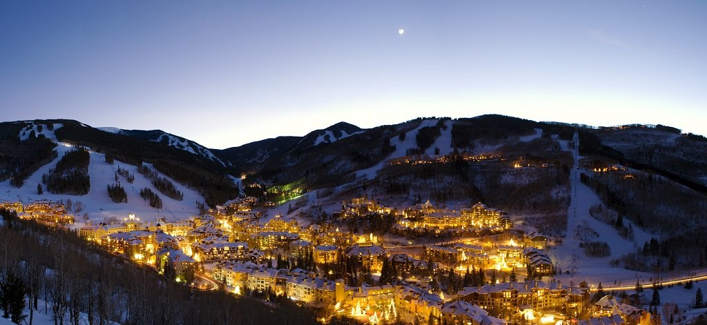 Night falls on Beaver Creek Resort
