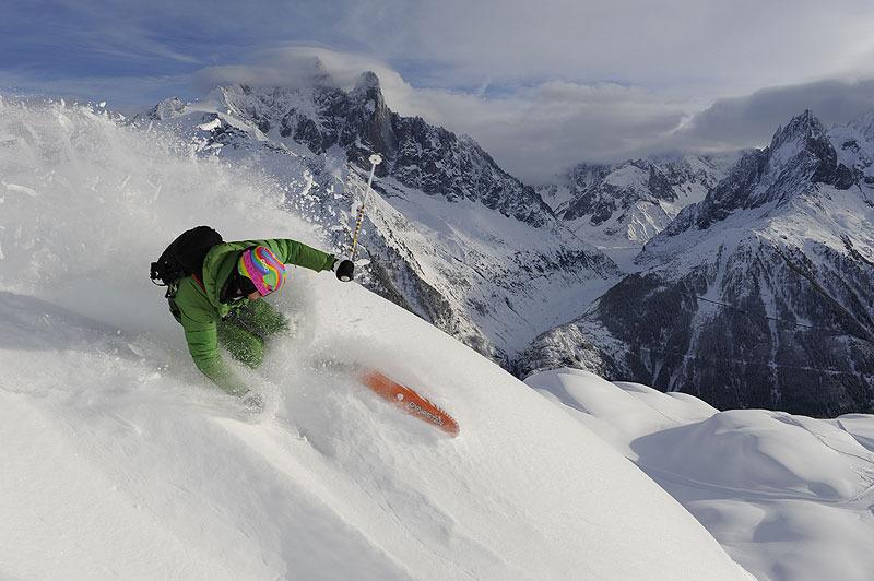 Aurélien Ducroz testeur de renom des skis freeride de Dynastar - ©Dan Ferrer