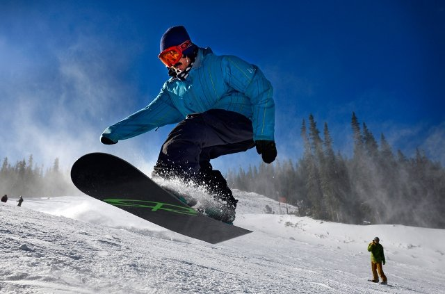 Snowboarders were out in force at Arapahoe Basin