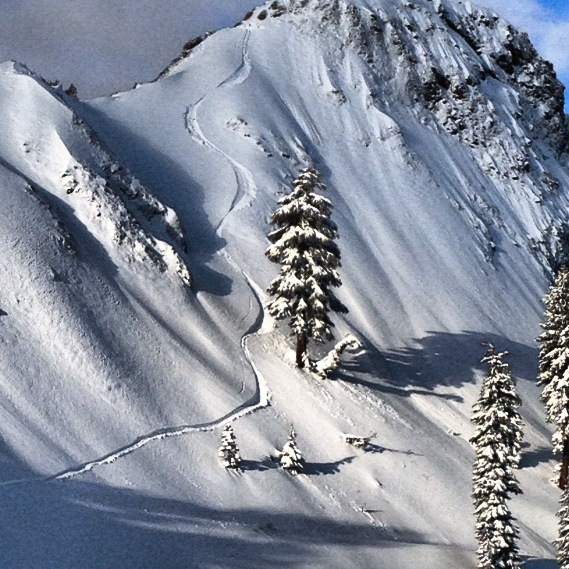 Looking back at a great line. - ©Travis Ganong