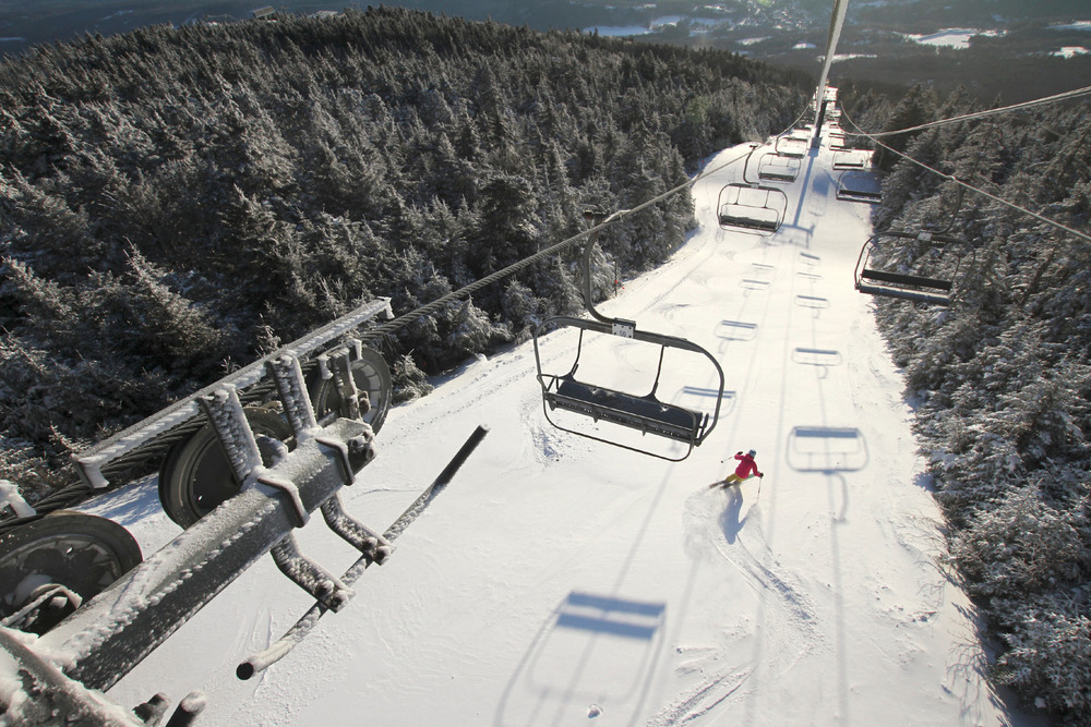 Those same snow showers made for some especially smooth morning groomers at places like Okemo.