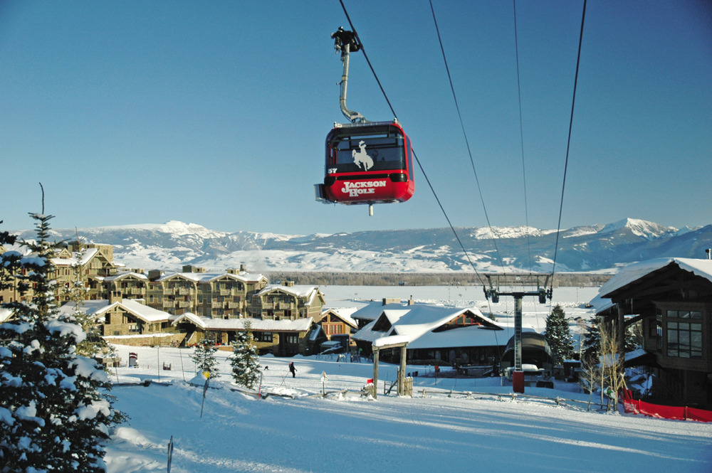 Catch the tram or gondola just a few steps from the resort.