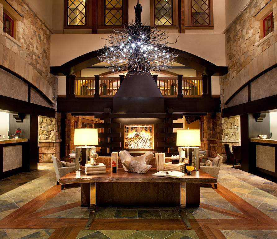 The lobby of The Sebastian Vail