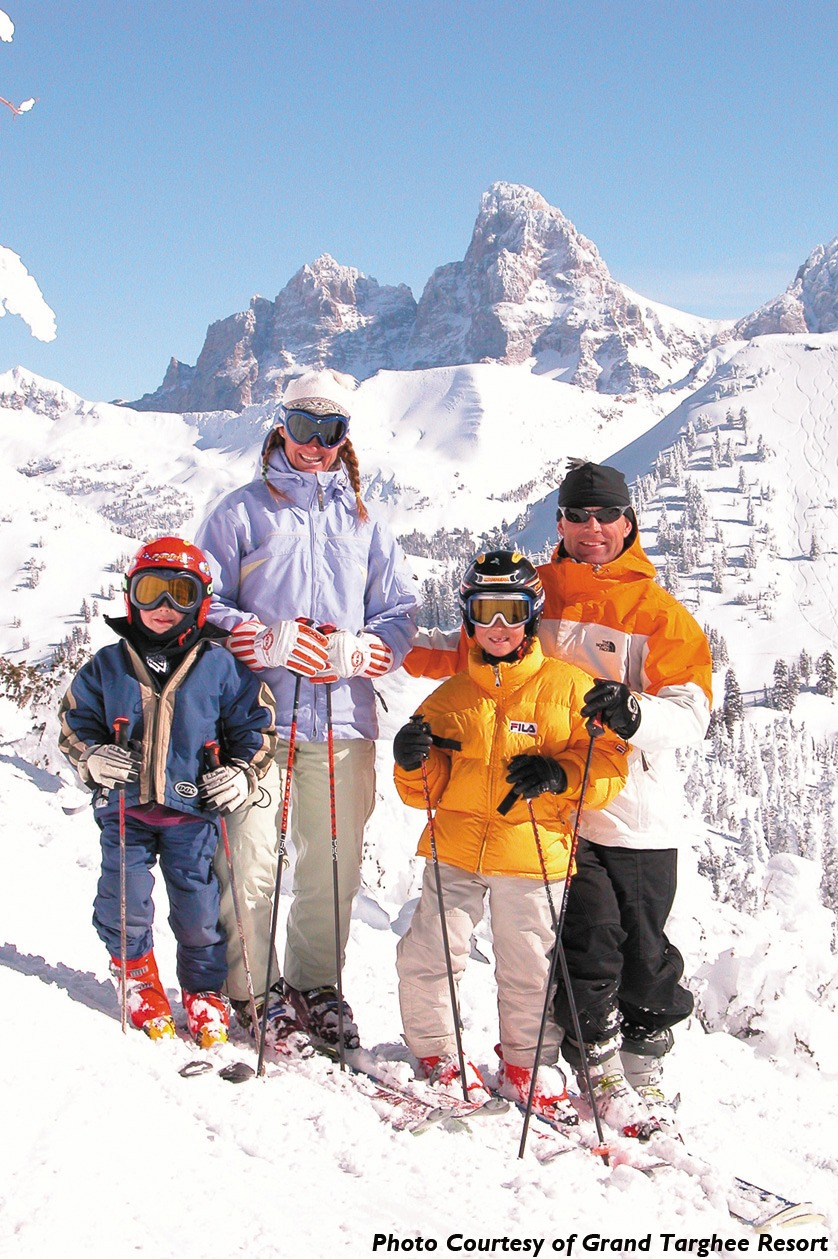 Below the Grand Teton at Grand Targhee Resort.Photo by William R. Sallaz, courtesy of Grand Targhee Resort