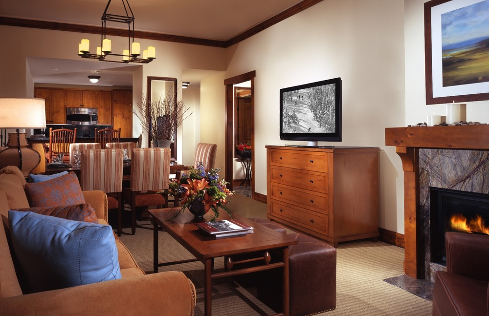 Suite living room. Photo Courtesy of Stowe Mountain Lodge.
