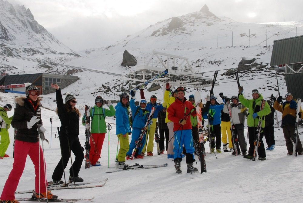 Val Thorens opens 12km ahead of official season start. Photo taken Nov. 22, 2012