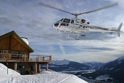 The chopper at Mica Heli-Skiing.