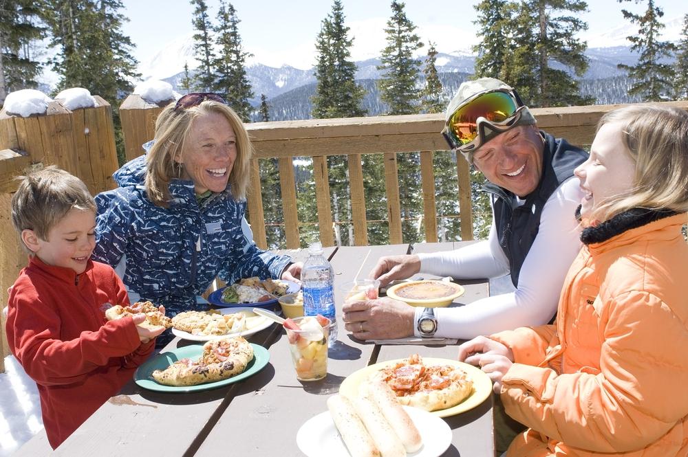 Dining outside in Keystone, Colorado