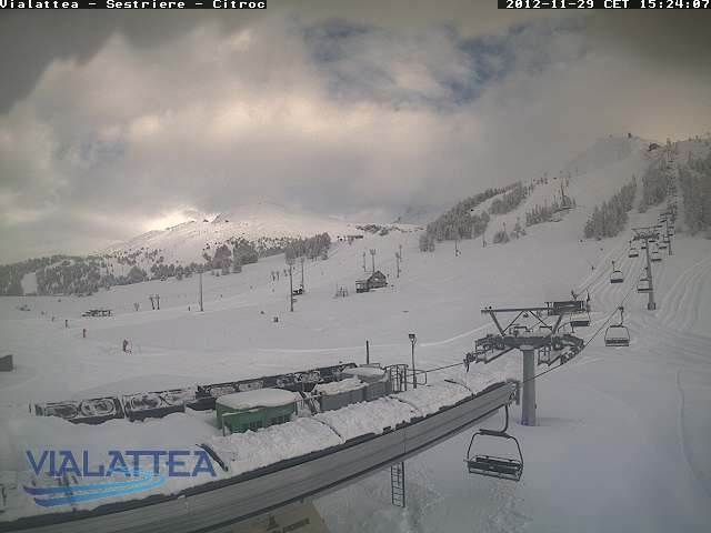 Sestriere webcam. Nov. 29, 2012