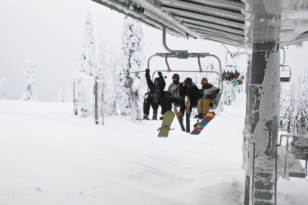 First chair reaches the summit at Whitefish. Photo courtesy of Whitefish Mountain Resort.
