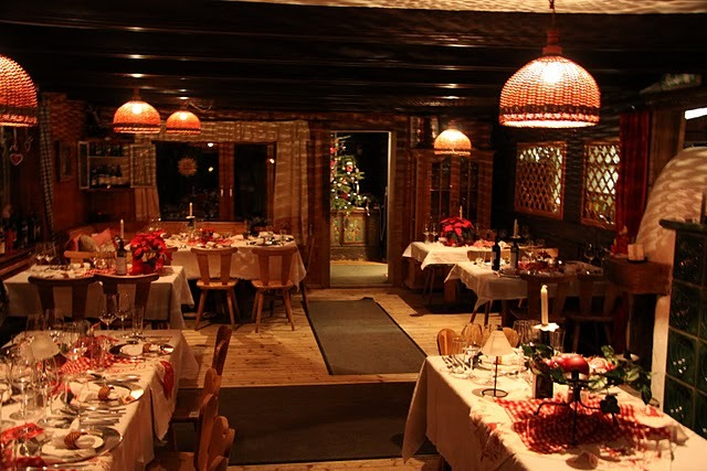 Interior shot of the Angerer-Alm restaurant