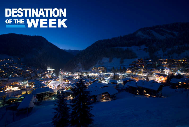 La Clusaz at night