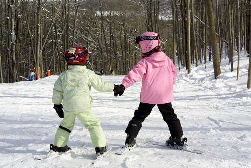 Sisters enjoying Crystal Mountain in Michigan. - ©Crystal Mountain