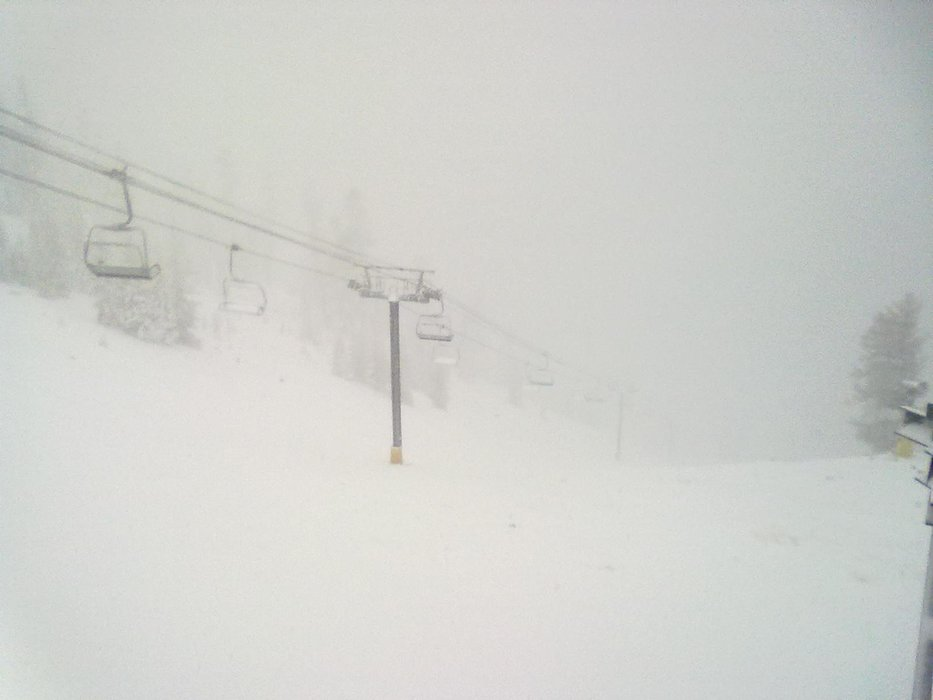 Looks like a whiteout at Heavenly Mountain Resort. - ©Heavenly Mountain Resort