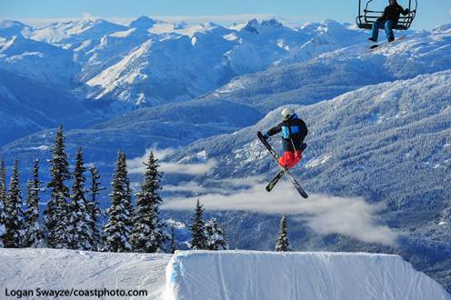 Air time at Whistler Blackcomb. Photo by Logan Swayze/Coastphoto.com.