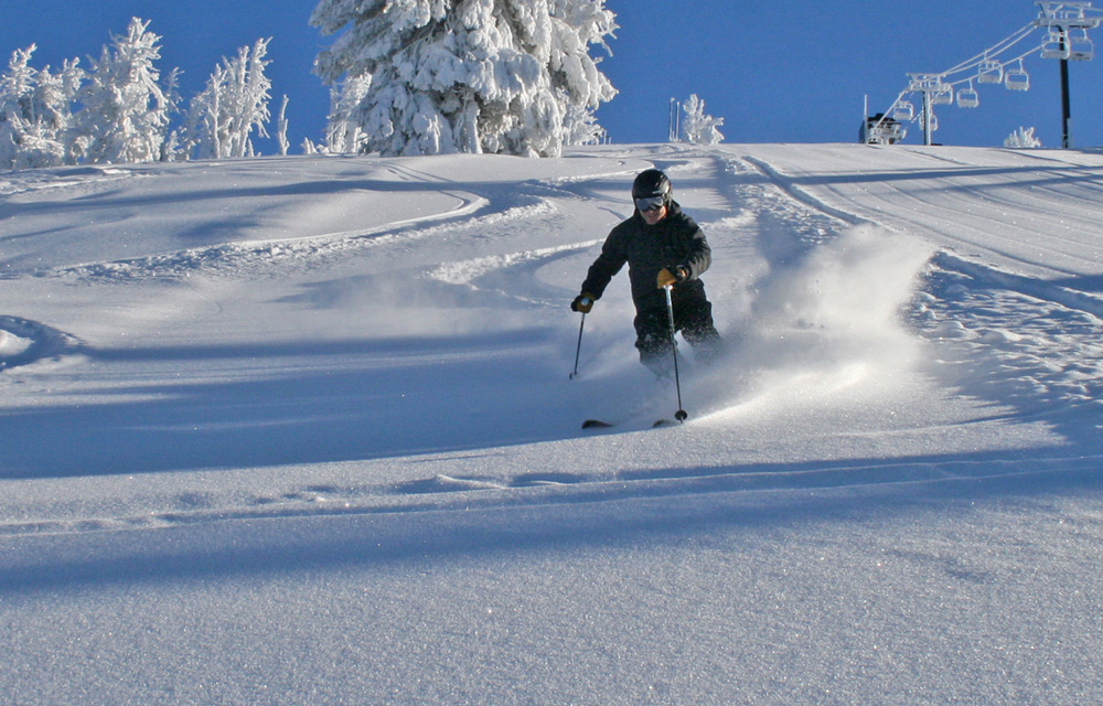 Early season turns at Brundage. Photo courtesy of Brundage Mountain Resort.