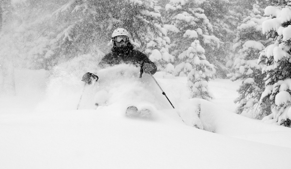 Eric Rasmussen enjoys plentiful powder at Wolf Creek.