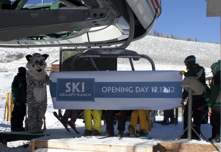 Opening day at Ski Granby Ranch.