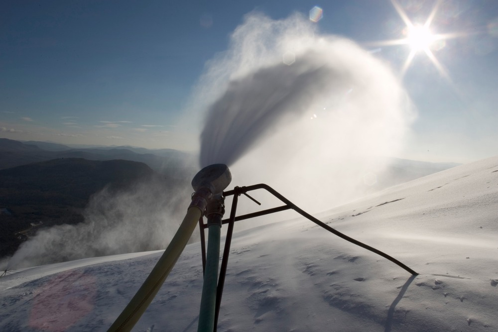 Snowmaking at Sunday River. Photo Courtesy of Sunday River.