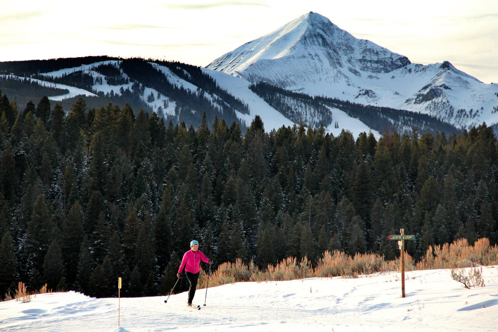 Lone Peak juts above the Lone Mountain Ranch trails. Photo by Brian Schott, courtesy of Lone Mountain Ranch.
