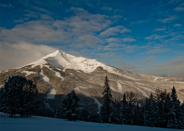 Lone Mountain provides beautiful vistas and great skiing in Big Sky, Montana.