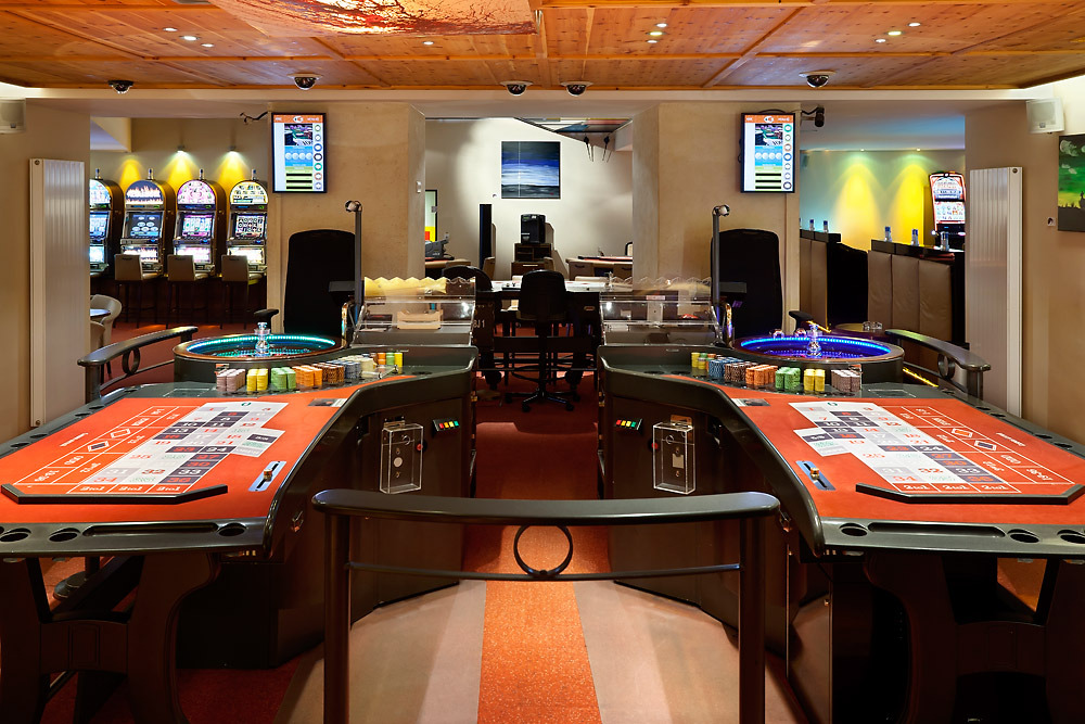 Roulette tables at Casino Kitzbuhel