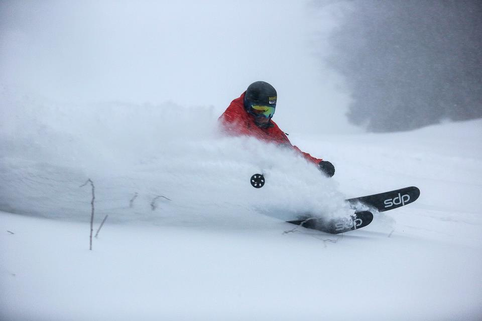 Slashing powder turns at Killington. 12/27/2012