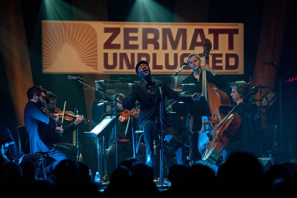 Soul musician Aloe Blacc at Zermatt Unplugged 2012 - ©Joe Condron