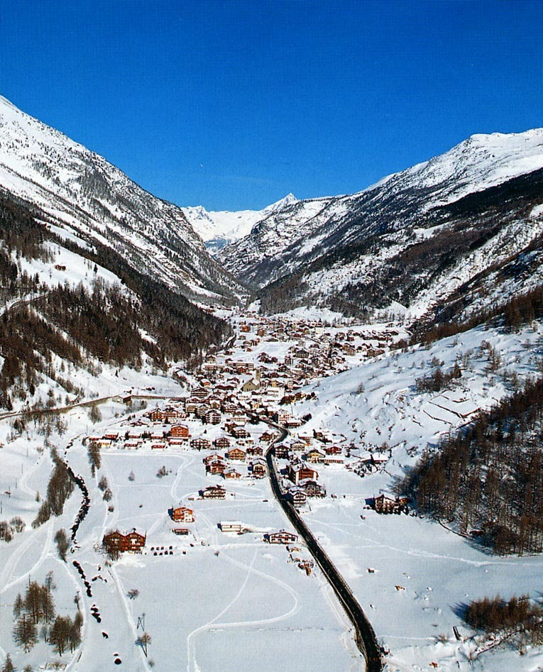The village of Saas Grund, adjacent to Saas Fee.