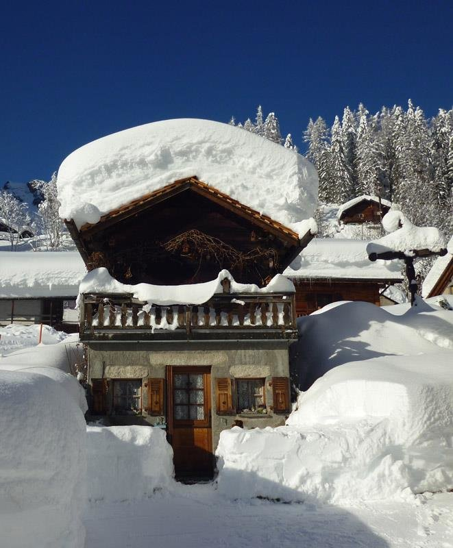 Powder is piling up in Chamonix. Dec. 27, 2012