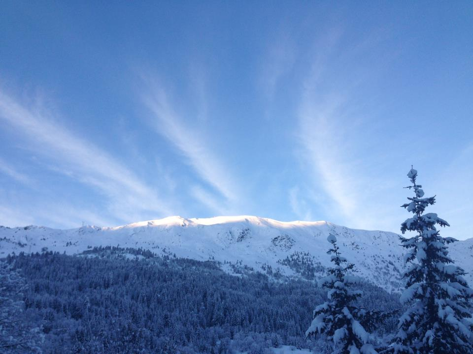 Powder and blue skies in Meribel. Jan. 12, 2013