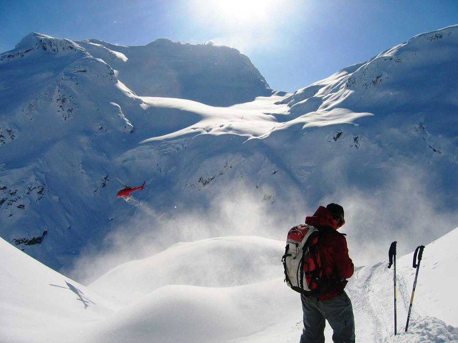The Heli takes flight with Northern Escape Heli-Skiing. - ©Northern Escape Heli-Skiing