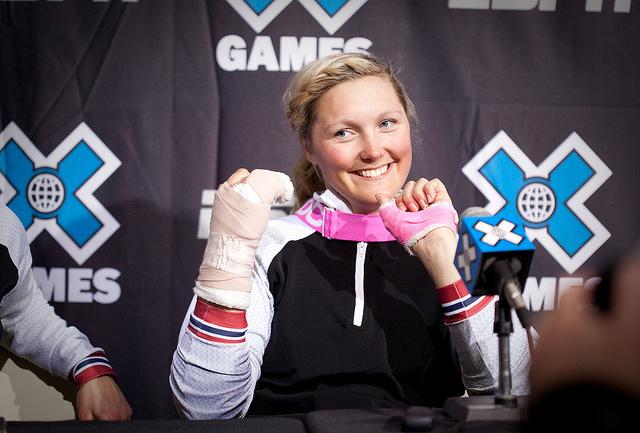 Marte Gjefsen, 1st place women's Skier X - ©Sasha Coben